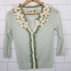 Anthropologie Felted Lei Cardigan Sweater Small